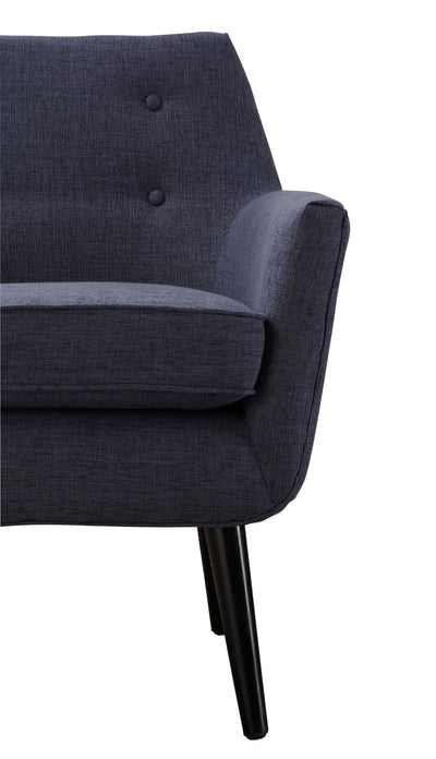 Clark Navy Linen Chair