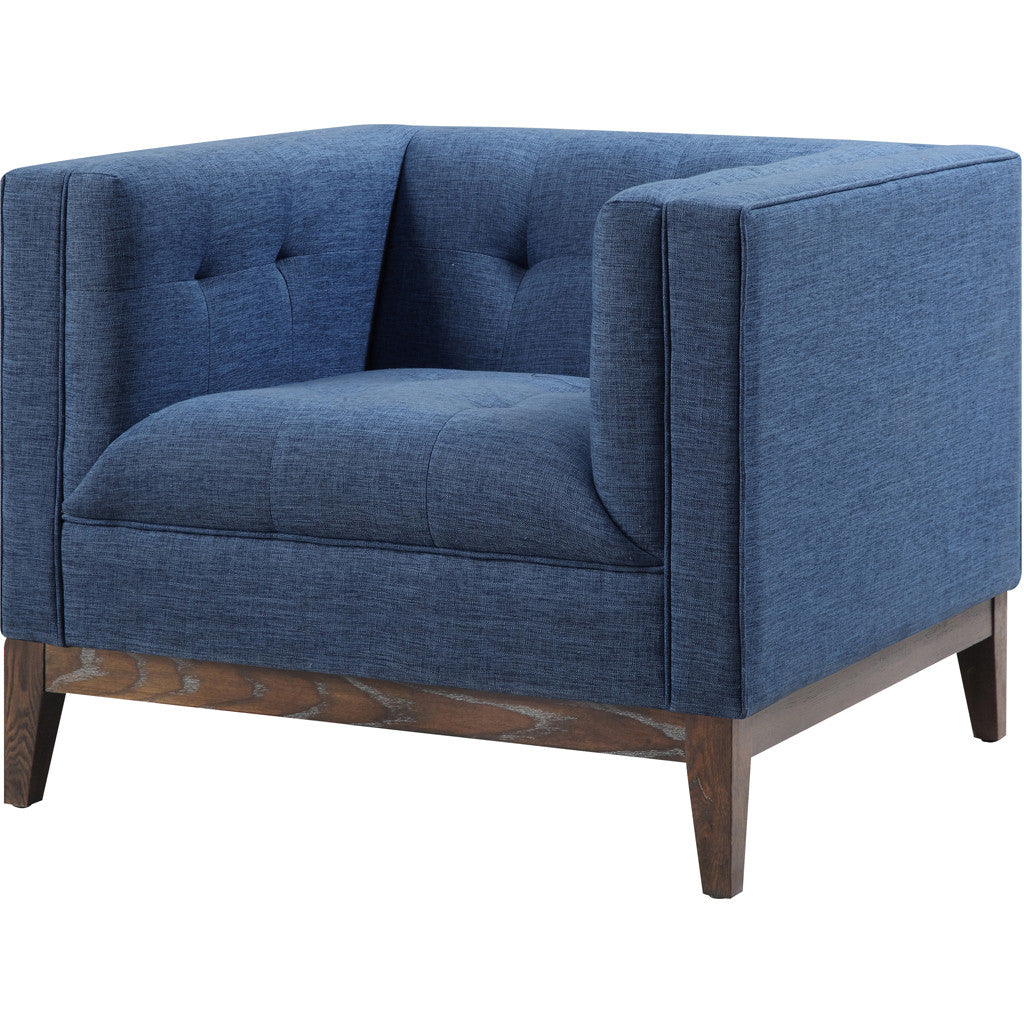 Galio Blue Linen Chair