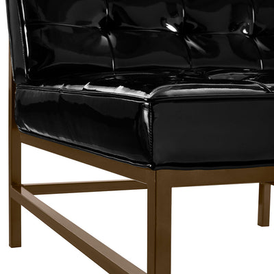 Jems Black Patent Leather Chair