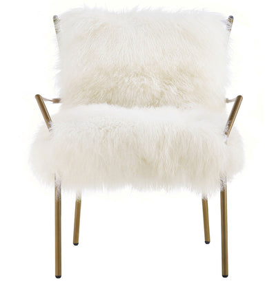 Leary White Sheepskin Chair