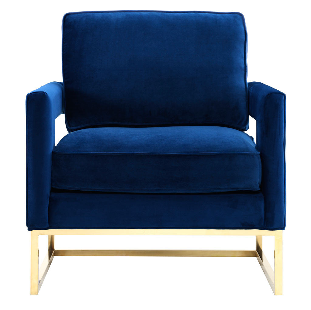 Alex Navy Velvet Chair