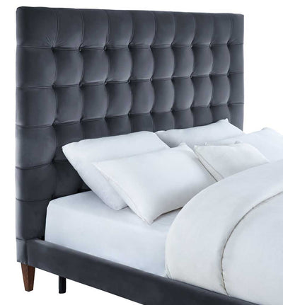 Ermont Gray Velvet Bed
