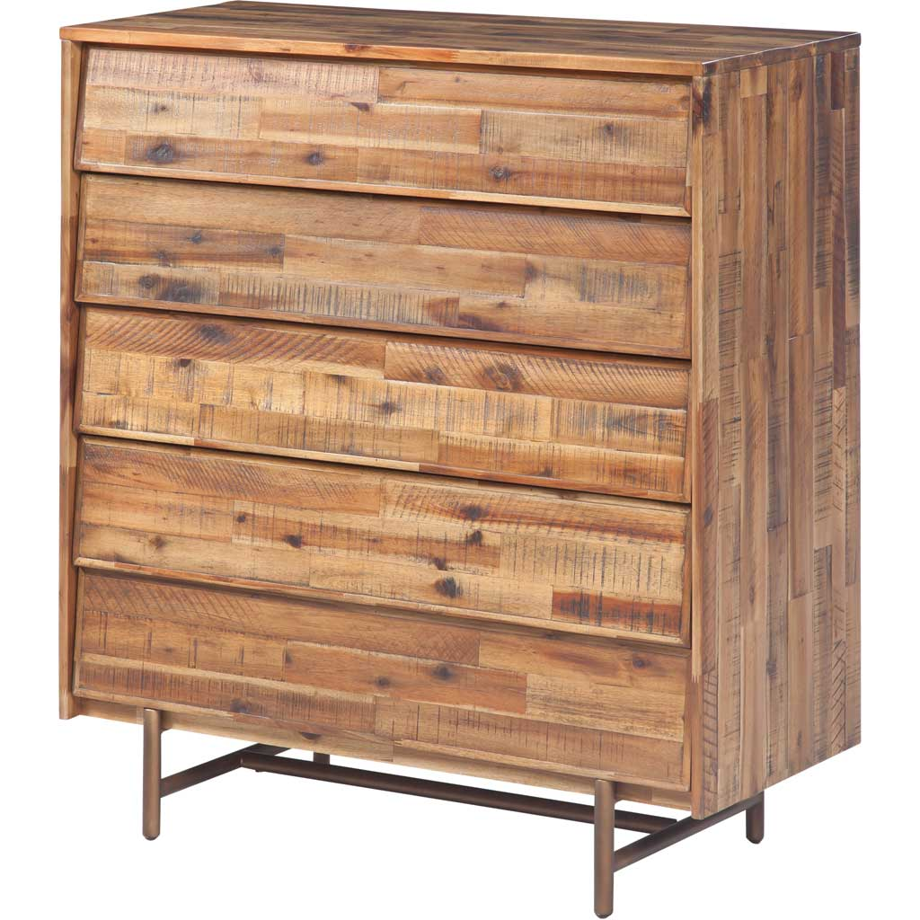 Boston Wooden 5 Drawer Chest