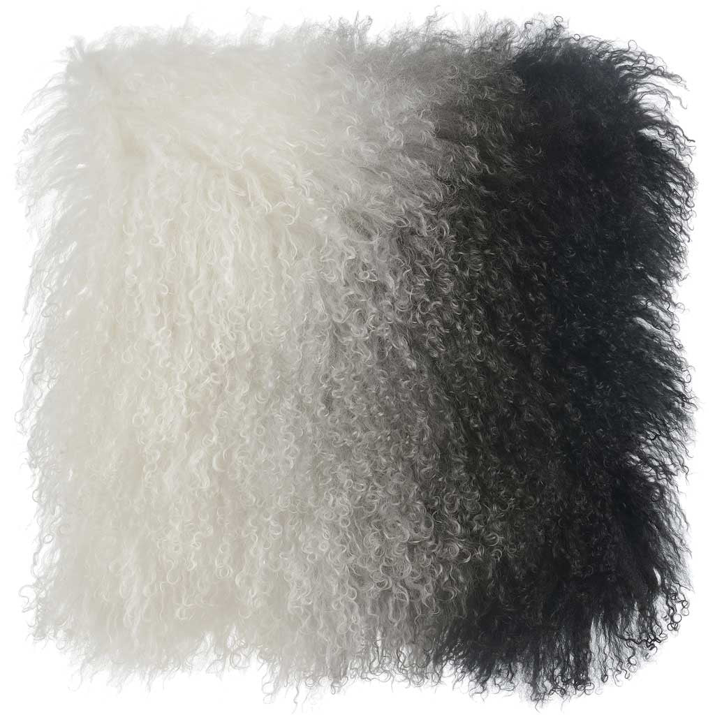 Tibetan Sheep Pillow White/Black