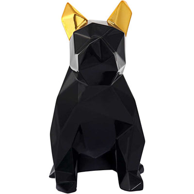 Mans Best Friend Sculpture Black/Gold