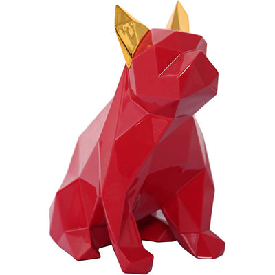 Mans Best Friend Sculpture Red/Gold