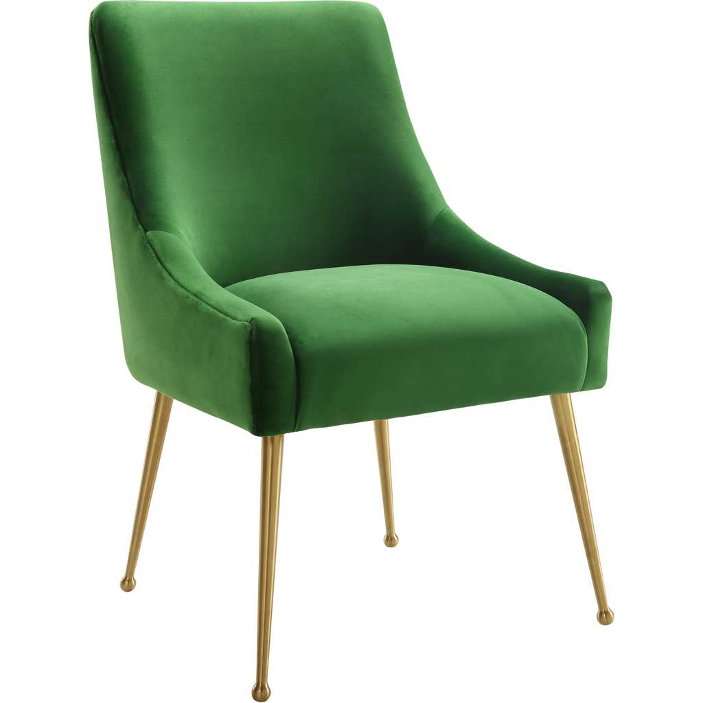 Bordeaux Green Velvet Side Chair