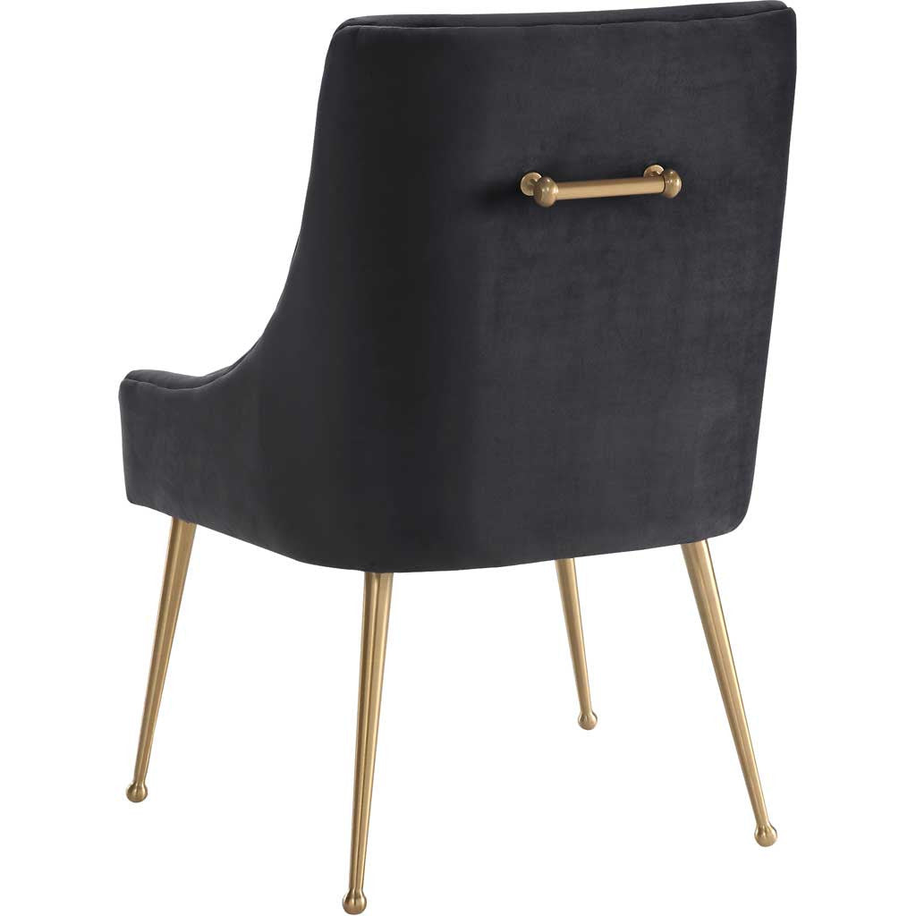Bordeaux Gray Velvet Side Chair
