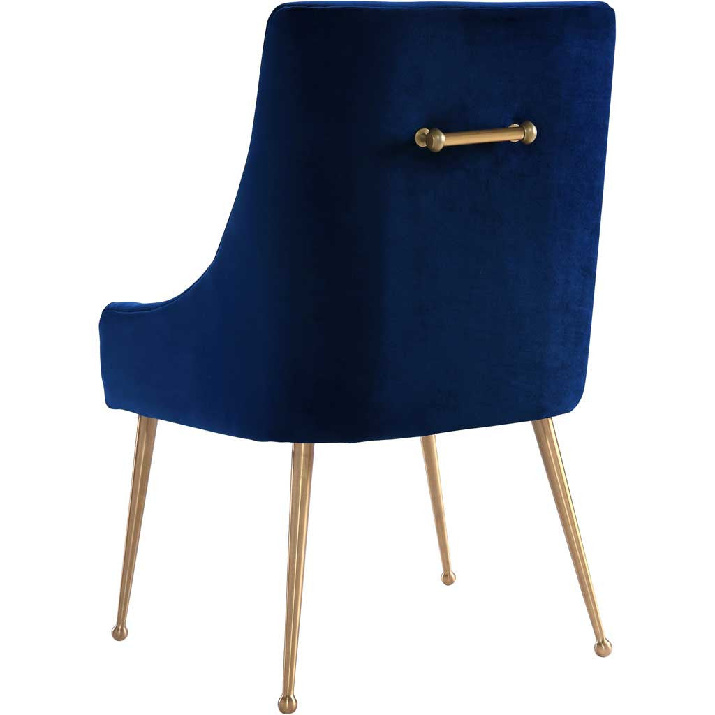 Bordeaux Navy Velvet Side Chair