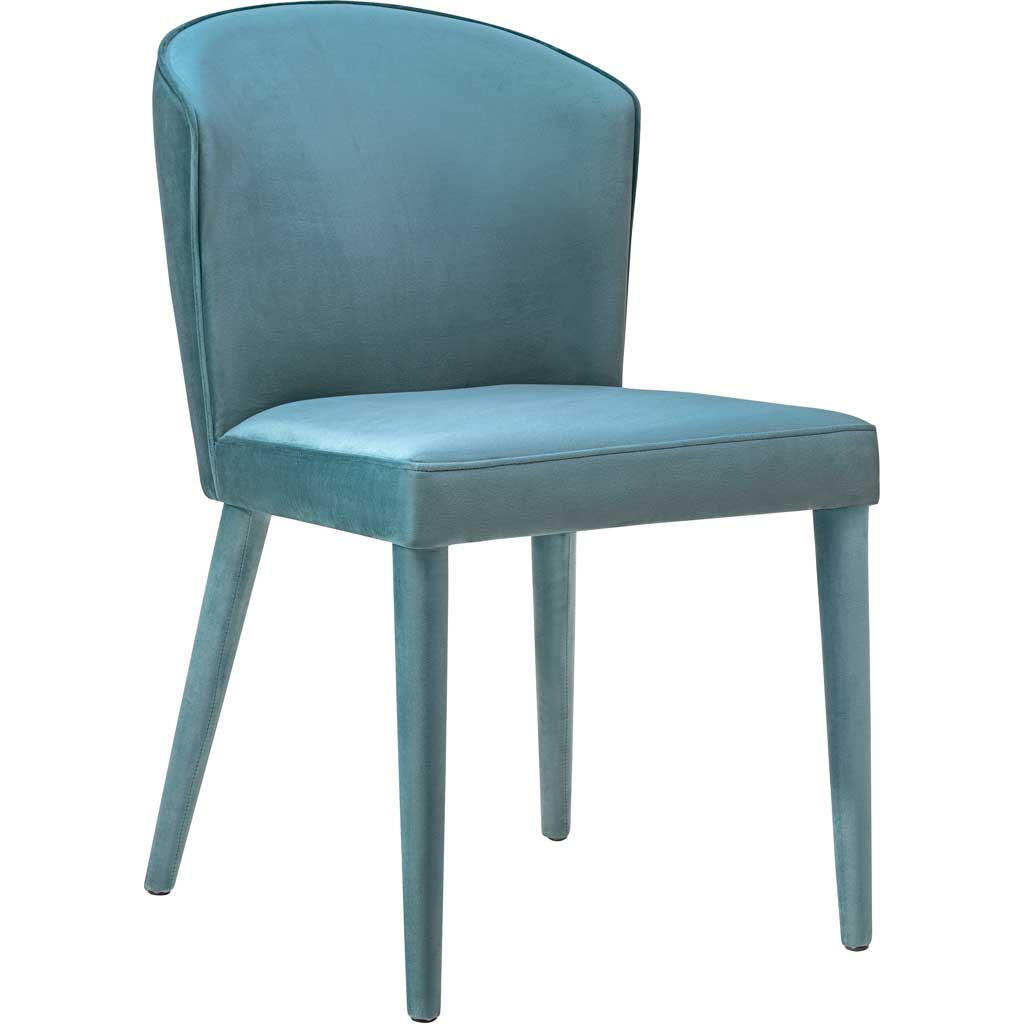 Mason Sea Blue Velvet Chair