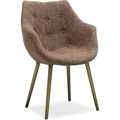 Forkland Brown Tweed Chair