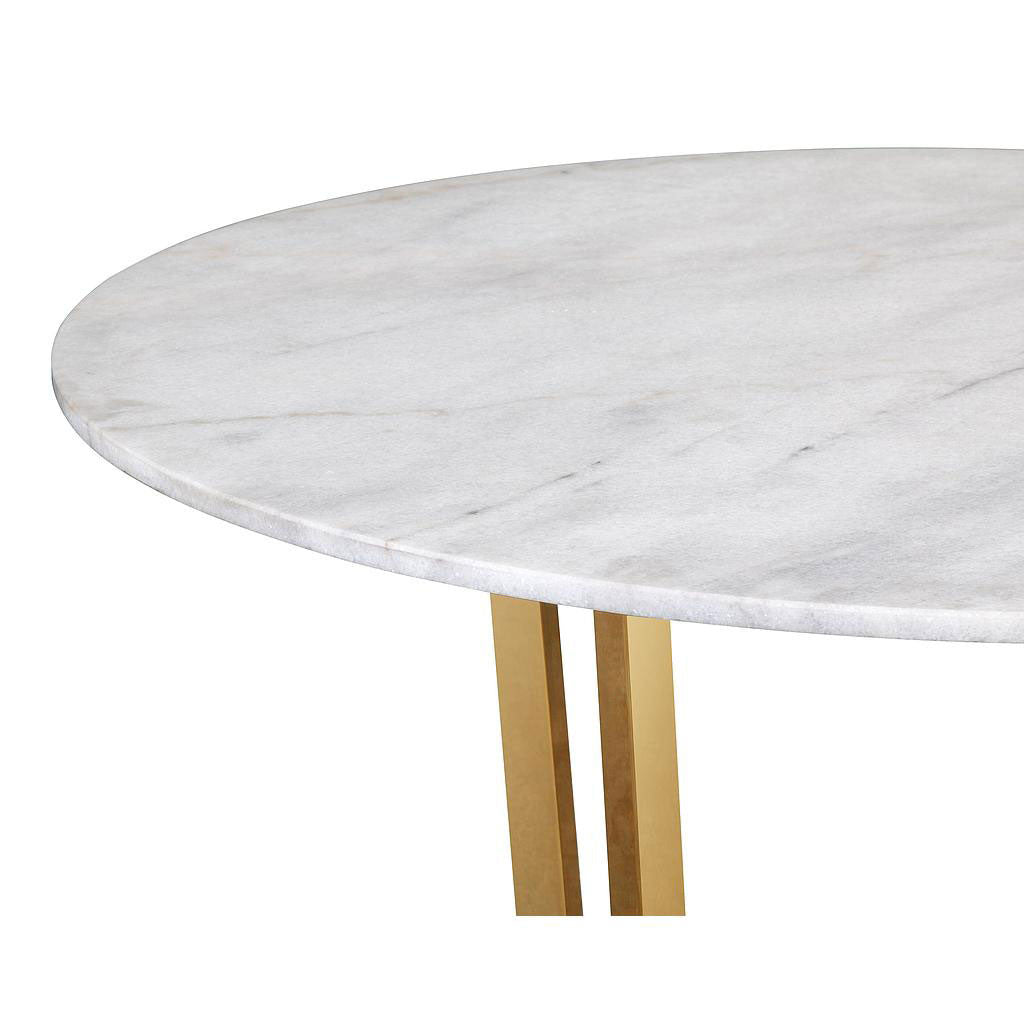 Munford White Marble Dining Table