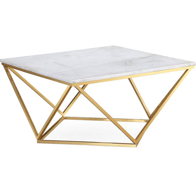 Leo White Marble Cocktail Table
