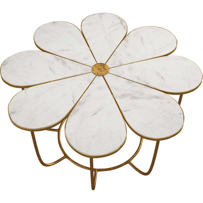 Floral Marble Cocktail Table