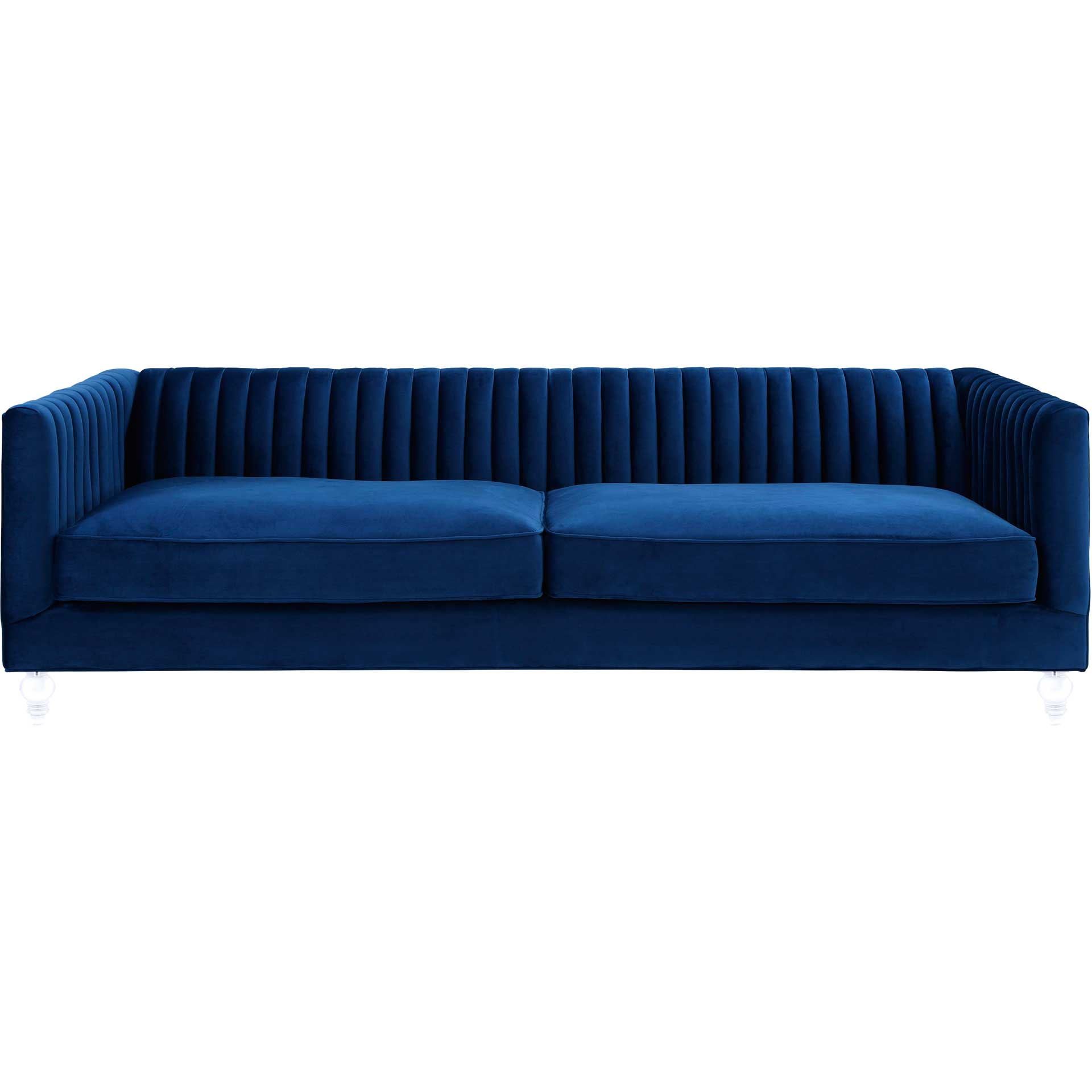 Aviate Blue Velvet Sofa
