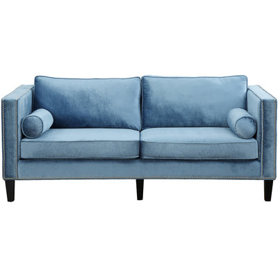 Cole Blue Velvet Sofa