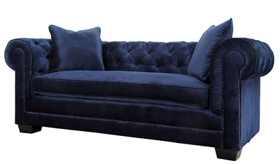 Norwood Navy Velvet Sofa