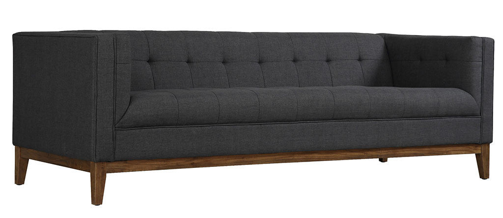 Galio Gray Linen Sofa