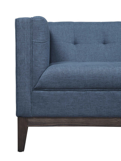 Galio Blue Linen Sofa