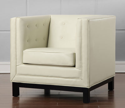 Ziv Cream Leather Chair