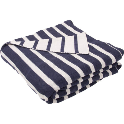 Trinity Insignia Blue/Whitecap Gray Throw