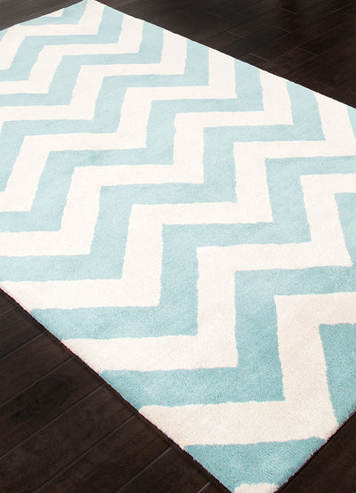 Traverse Paris Light Turquoise/White Area Rug