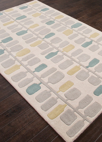 Traverse Leaves Beige/Gold Area Rug