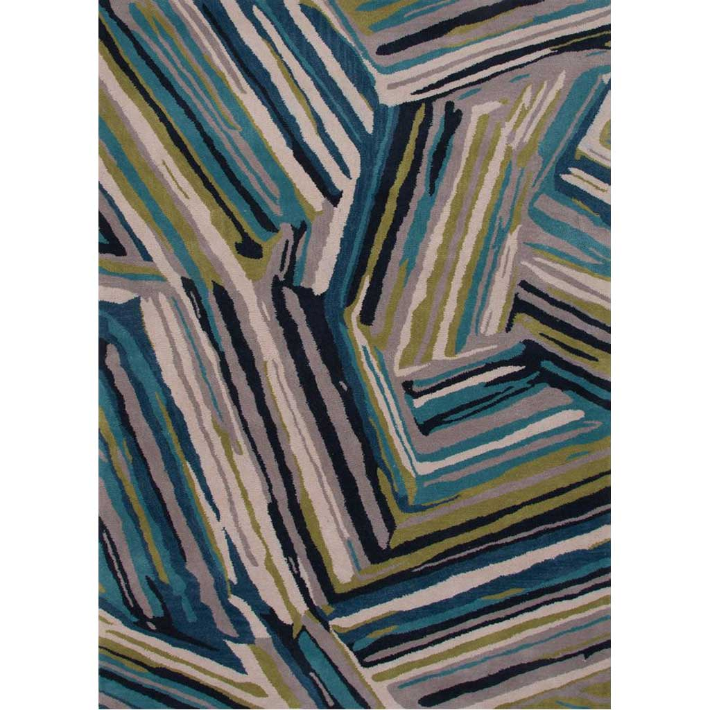 Traverse Pick-Up-Sticks Brittany Blue/Moroccan Blue Area Rug