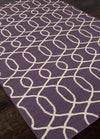 Urban Bungalow Sabrine Continental Plum/Antique White Area Rug