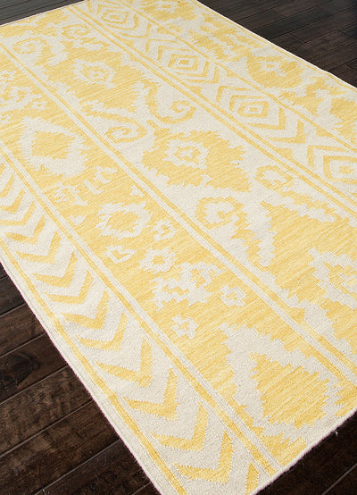 Urban Bungalow Farid White/Butter Area Rug