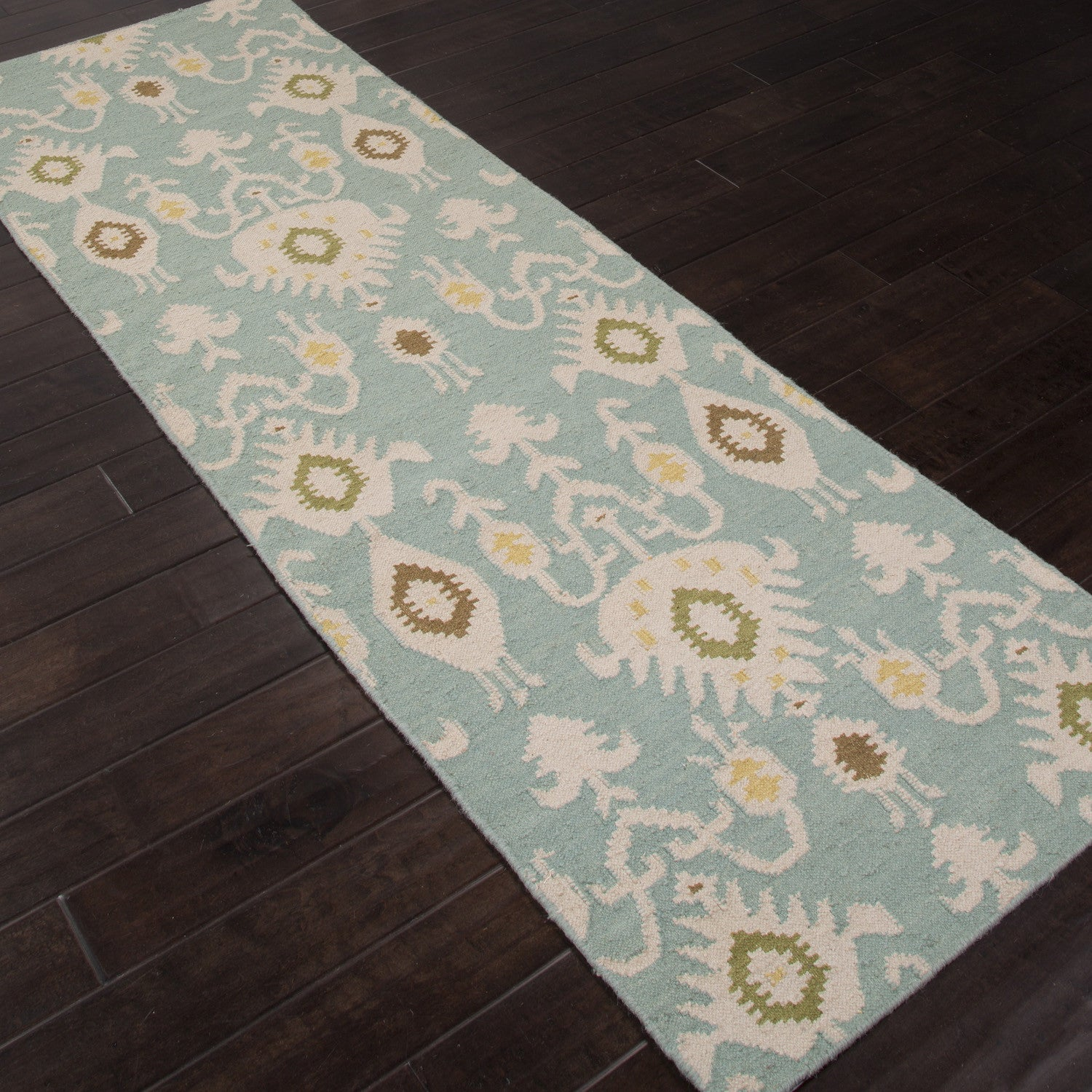 Urban Bungalow Samir Cool Aqua Runner Rug