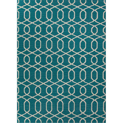 Urban Bungalow Sabrine Deep Lake/Antique White Area Rug
