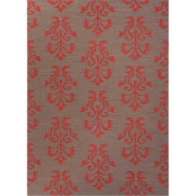 Urban Bungalow Khalid Dark Gray/Chili Pepper Area Rug