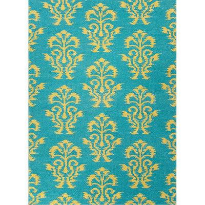 Urban Bungalow Khalid Deep Lake/Ecru Olive Area Rug