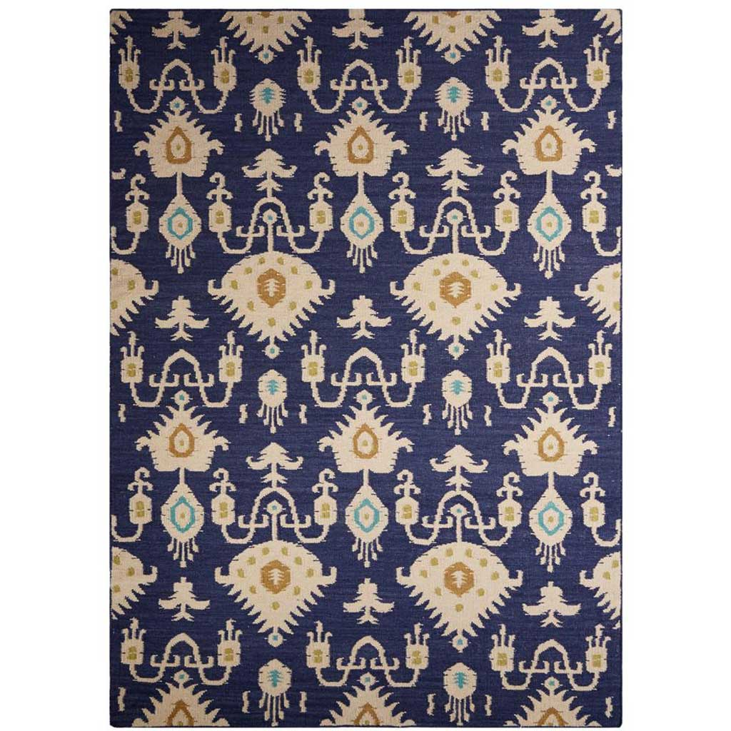Urban Bungalow Samir Blue/Ivory Area Rug
