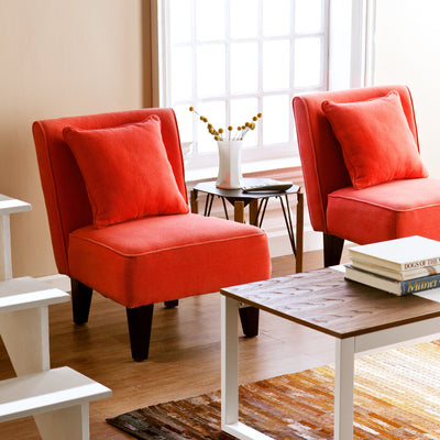 Purban Lounge Chair Red/Orange (Set of 2)