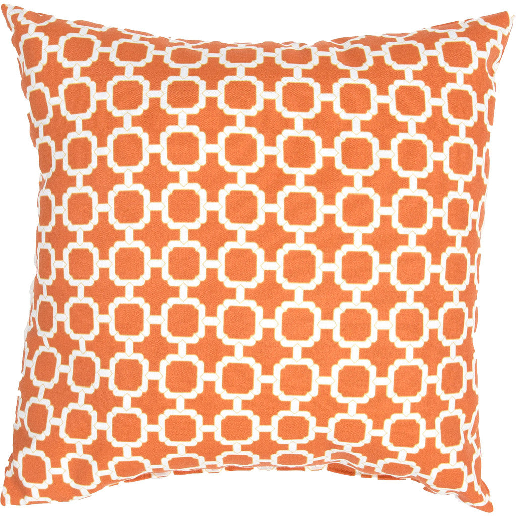 Veranda Hockley Jaffa Orange/Bright White Pillow