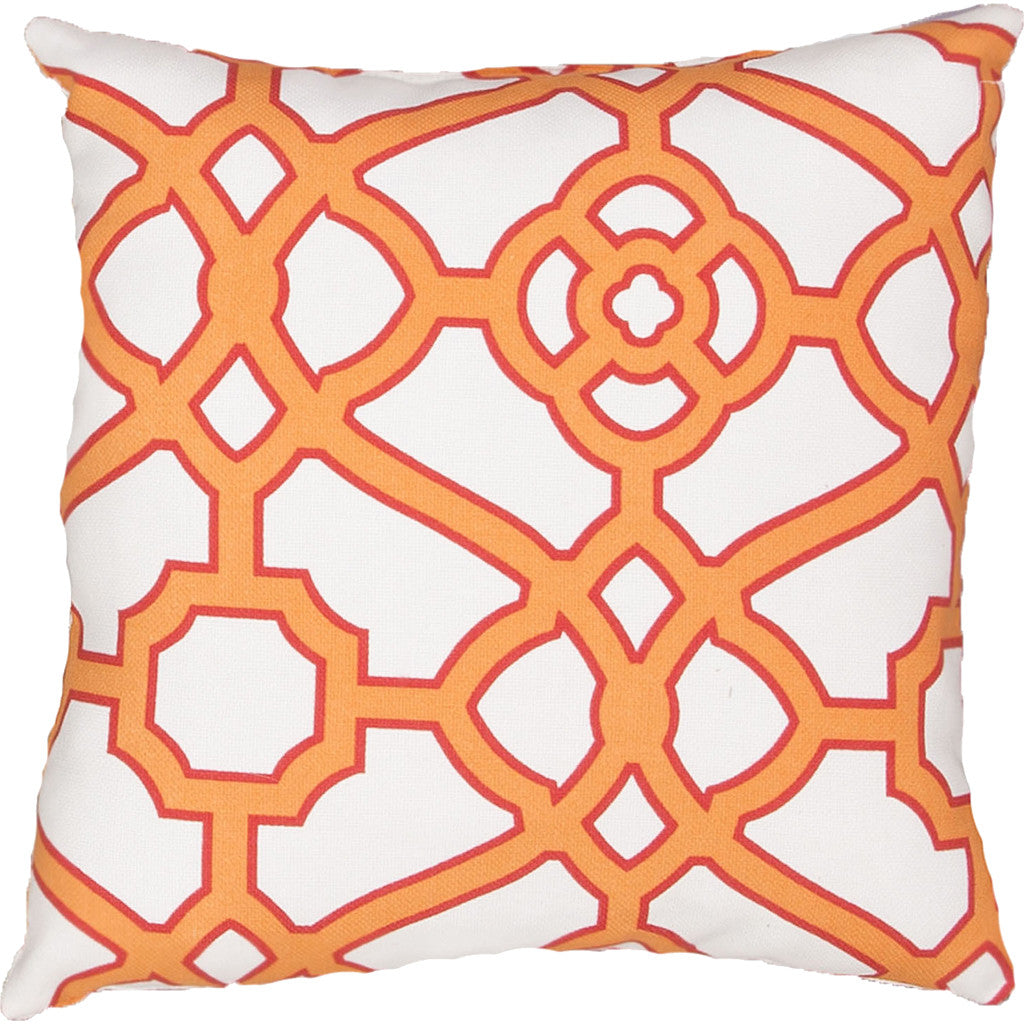 Veranda Odl Pavilion Frtw Snow White/Blazing Orange Pillow