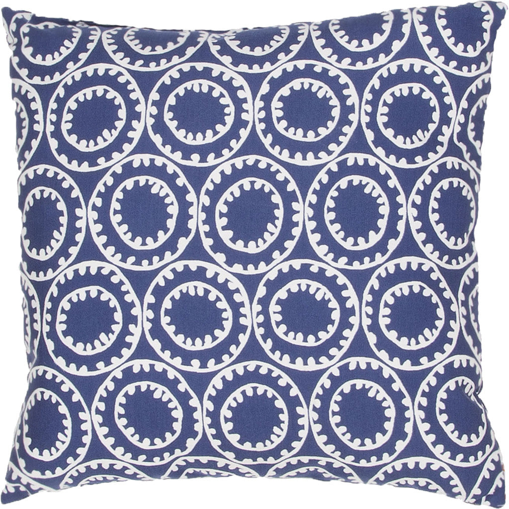 Veranda Odl Ring A Bell Twilight Blue/Cloud Dancer Pillow