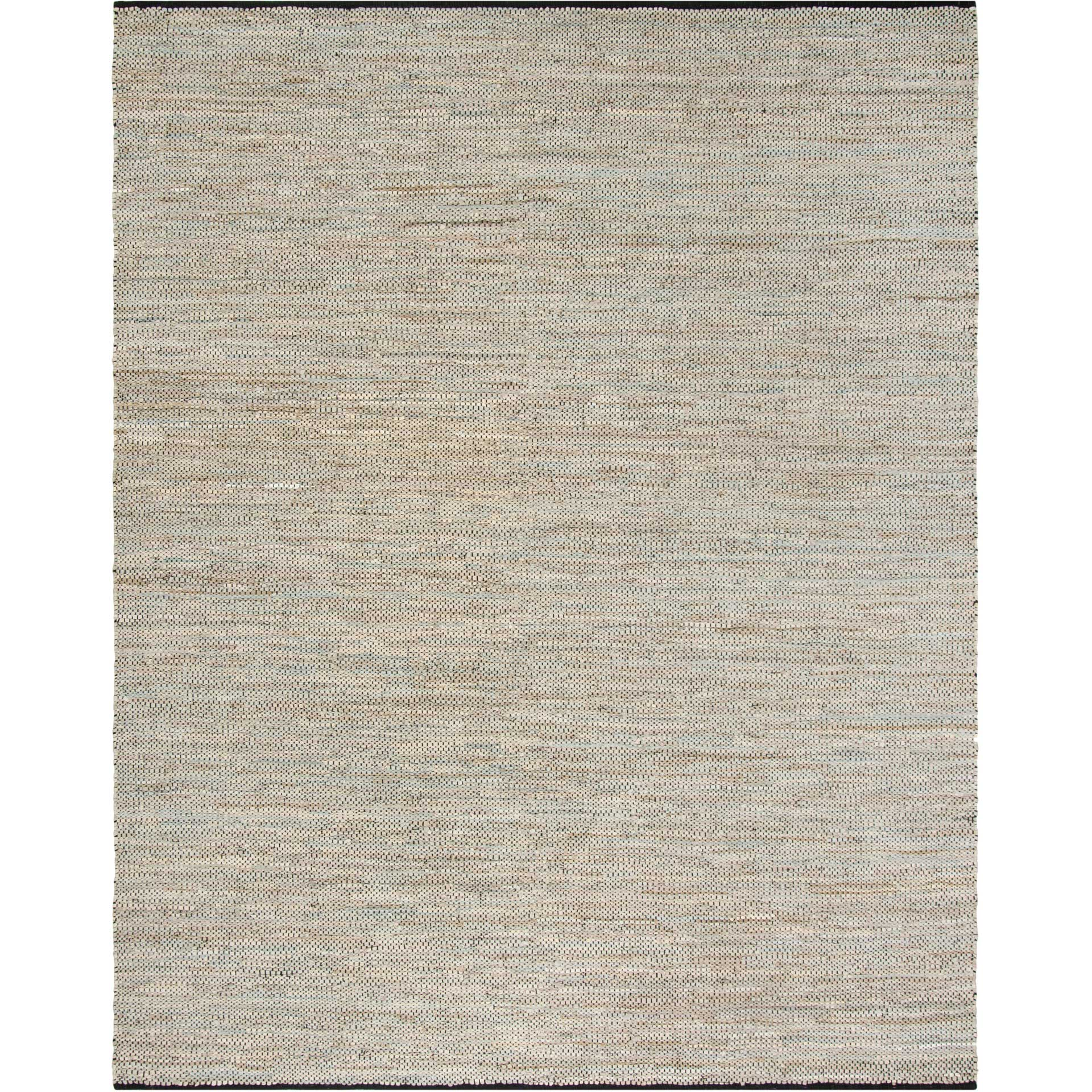 Vintage Leather Light Beige Area Rug