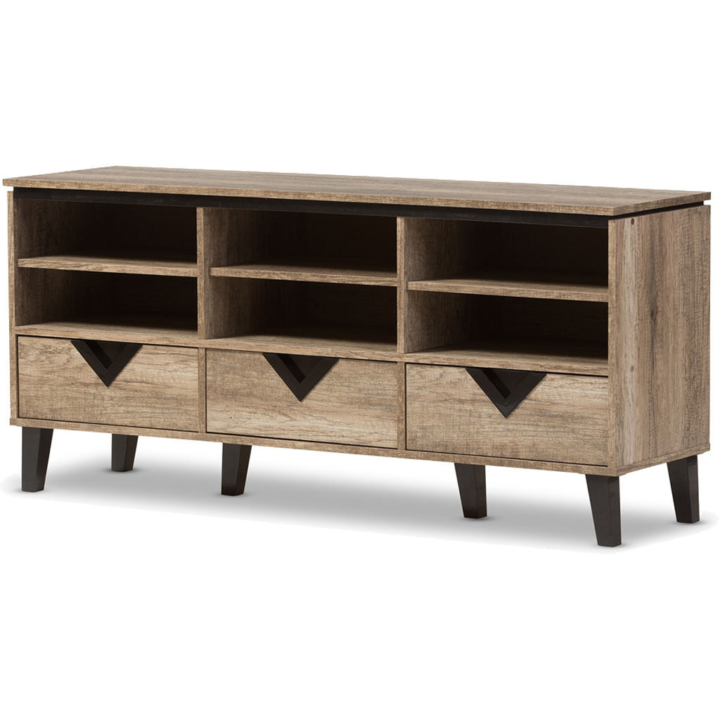 Waverly Media Cabinet Light Oak
