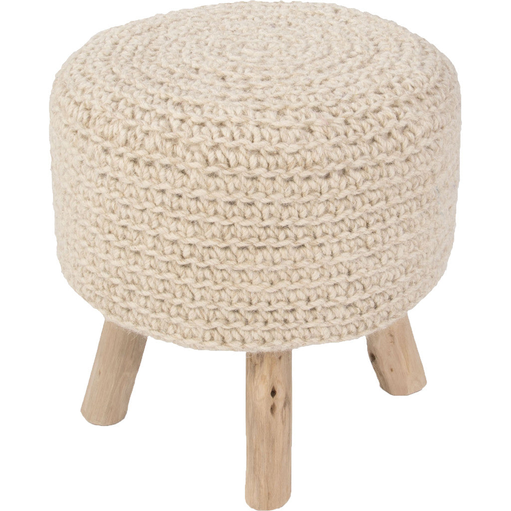 Westport Montana Stool Bleached Sand Pillow