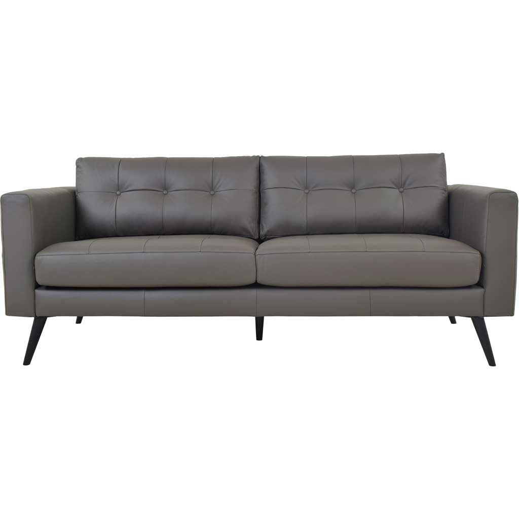 Corcoran Leather Sofa Boulder Gray