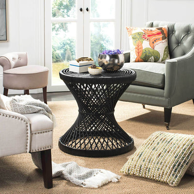 Griffin Bowed Accent Table Black