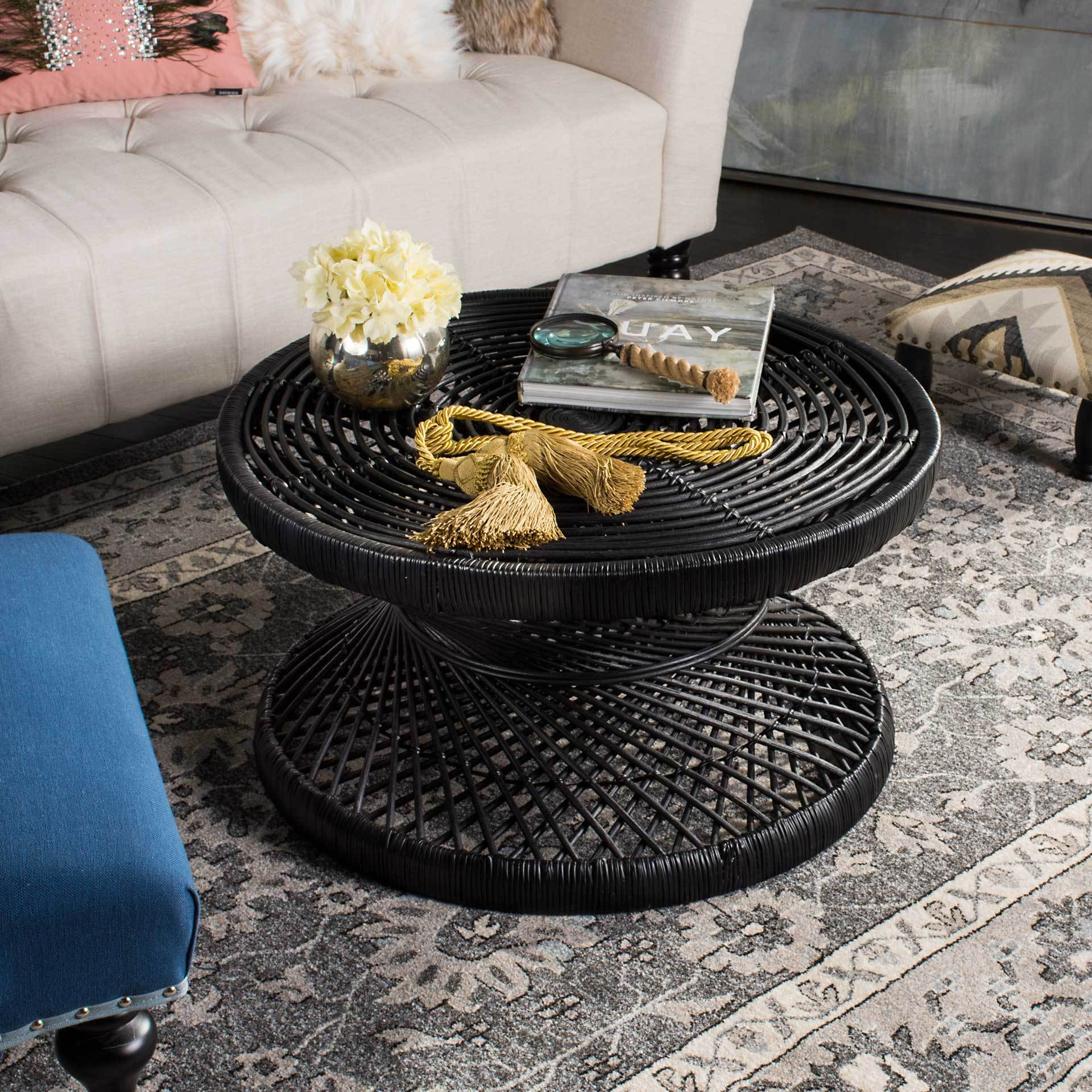 Griffin Bowed Coffee Table Black Froy Com