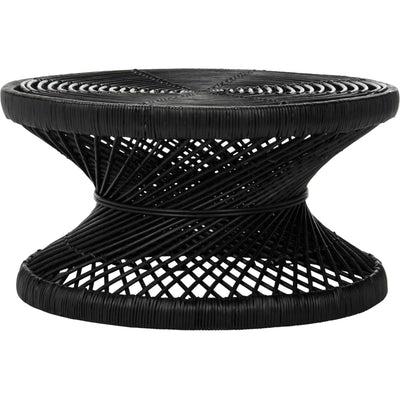 Griffin Bowed Coffee Table Black