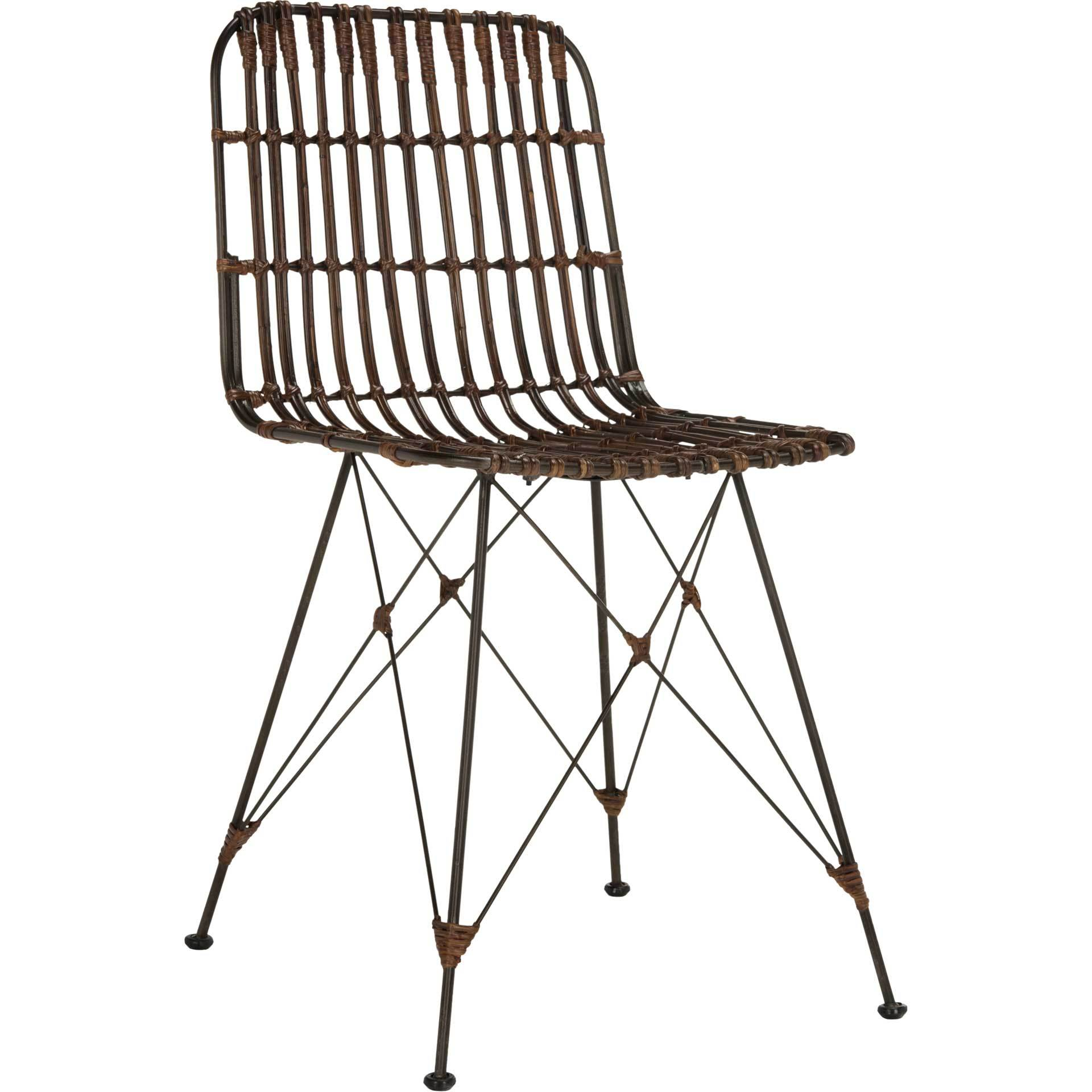 Millie Wicker Dining Chair Croco Brown (Set of 2)