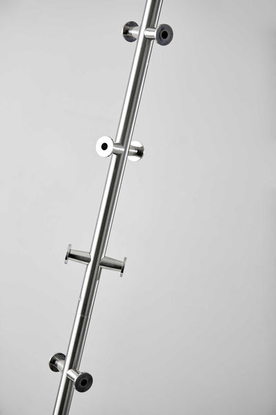 Kent Coat Rack Brushed Steel
