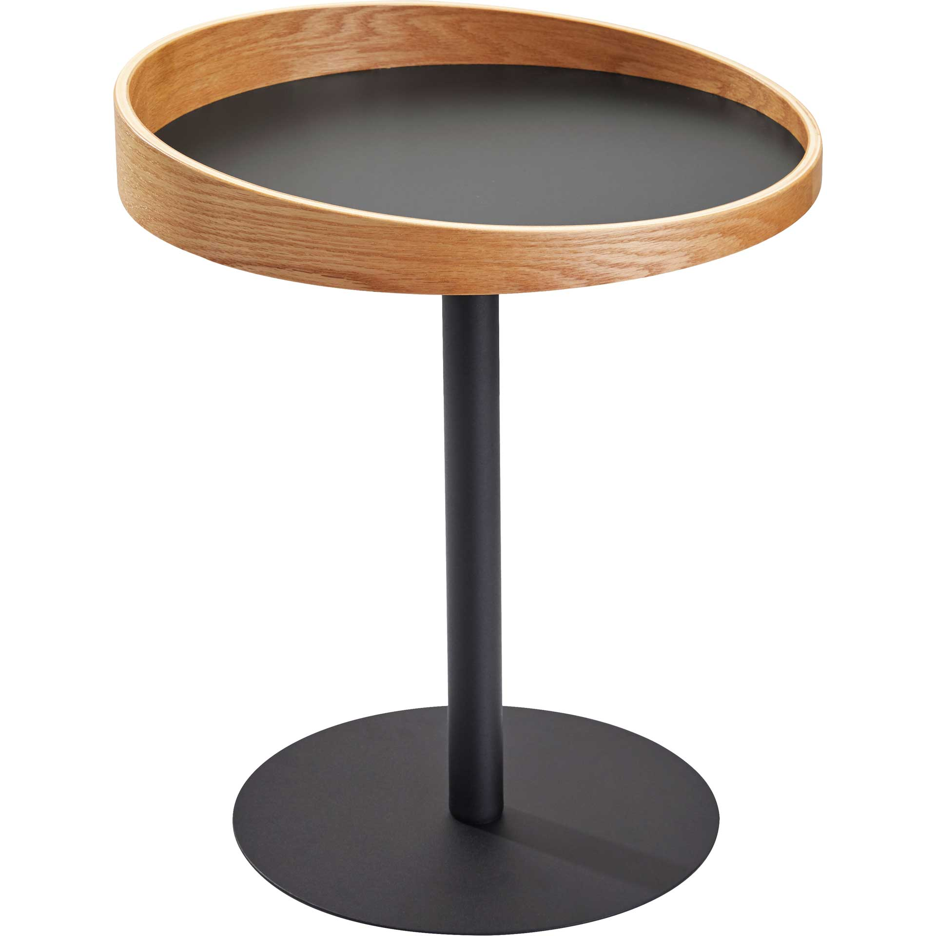 Croix End Table Black/Natural
