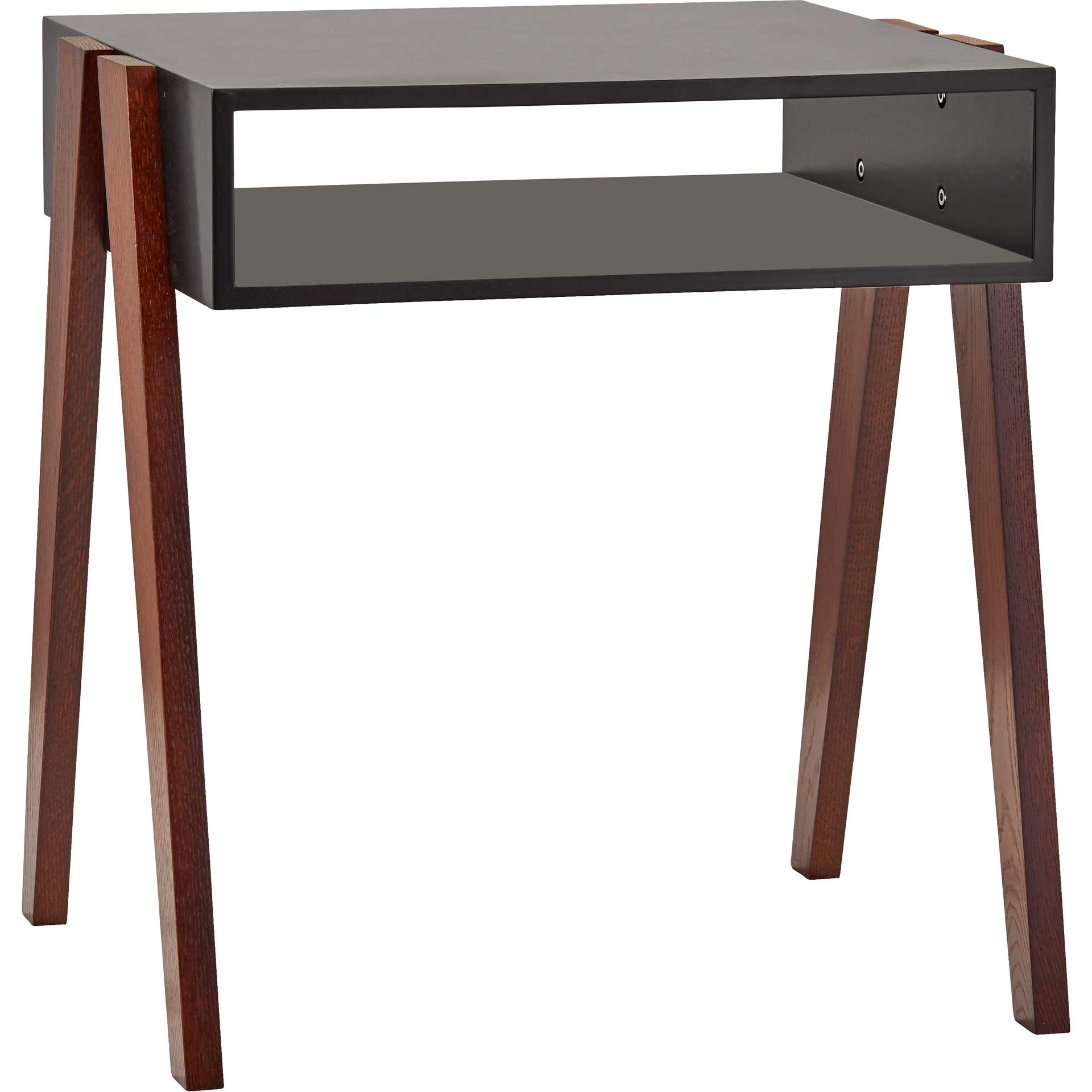 Laon End Table Black/Walnut